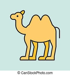 Camel filled outline icon