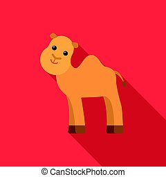 Camel flat icon. Illustration for web and mobile design.