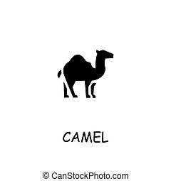 Camel flat vector icon