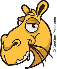 Camel head isolated, vector illustration