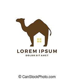 camel house home logo vector download