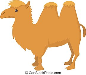 Camel icon, cartoon style