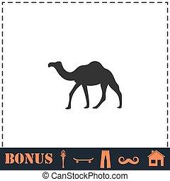 Camel icon flat