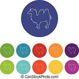 Camel icon, outline style