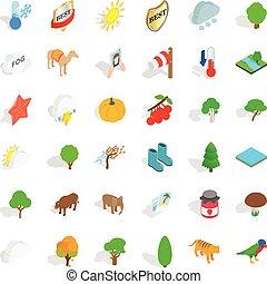 Camel icons set, isometric style