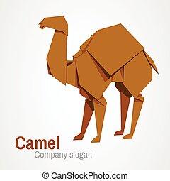 Camel logo origami
