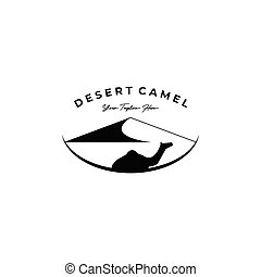 camel logo vector illustration design