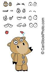 camel plush cartoon expressions