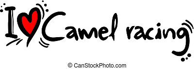Camel racing love - Creative design of camel racing love