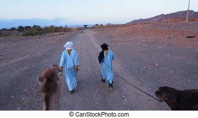 Camel Ride, Morocco - Riding Camels on Zagora Desert in...