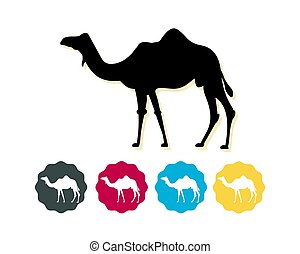 Camel silhouette as Flat Icon