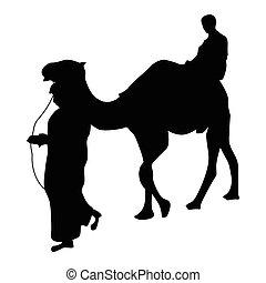 Camel silhouette black
