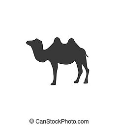 Camel silhouette icon vector illustration isolated white background