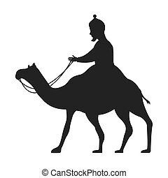 camel silhouette isolated icon
