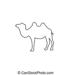 Camel silhouette line icon vector illustration isolated white background