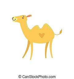 Camel Stylized Childish Drawing