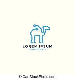 camel tech desert logo vector