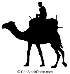 Cameleer - Abstract vector illustration of camel and...