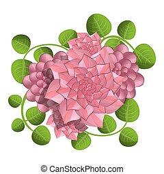 Camellia concept background, cartoon style