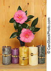Camellias and candles