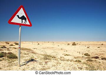camelo, sinal aviso