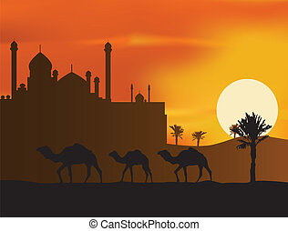 camelos, silueta