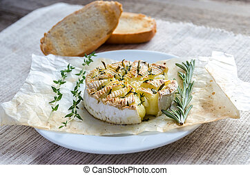 Camembert cheese fondue
