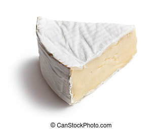 camembert cheese on white background