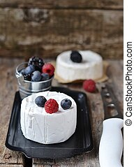 Camembert cheese with wilde berrys