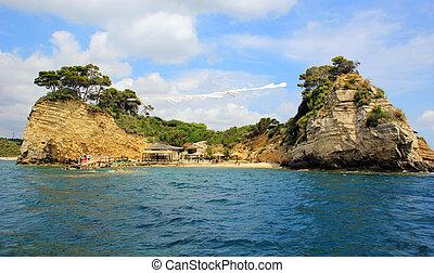 Cameo (Agios Sostis) island in Zakynthos