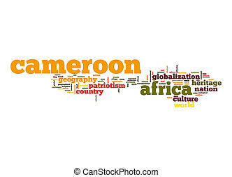 camerún, palabra, nube