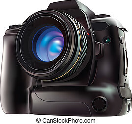 Camera - 100% Adobe Illustrator photo realistic vector image...