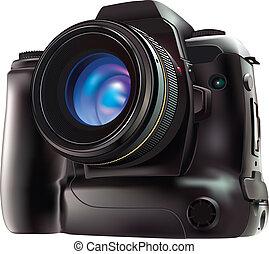 Camera - 100% Adobe Illustrator photo realistic vector image...