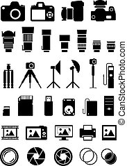 Camera Accessories Icons