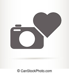 camera and heart icon