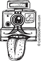 Camera and Photography Smiling Concept - Inky teasing...