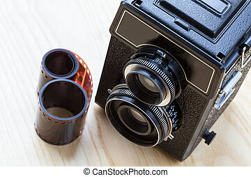 Camera and roll