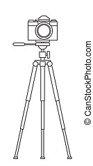 Camera and tripod - Illustration of the photographic camera ...