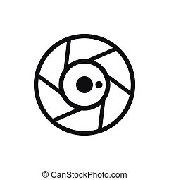 Camera aperture icon, simple style