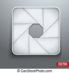 Camera aperture objective icon photography symbol