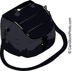 Camera bag icon, isometric style