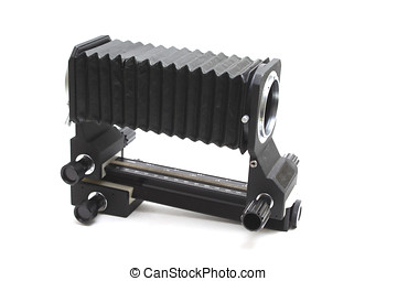 Camera Bellows - 35 MM camera bellows, Isolated on white ...