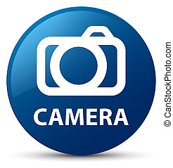 Camera blue round button