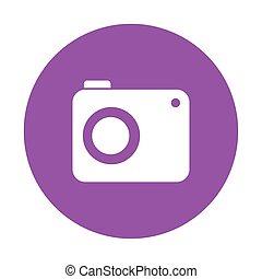 camera button icon, on white background