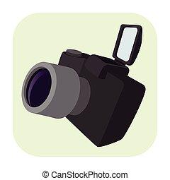 Camera cartoon icon