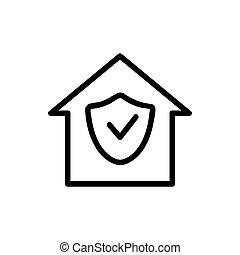 Camera cctv icon vector. Isolated contour symbol illustration