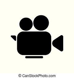 Camera cinema video icon