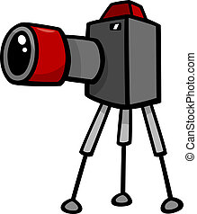 camera clip art cartoon illustration