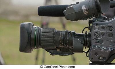 Camera. Close-up - Camera prepared to film