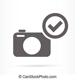 camera confirm image icon